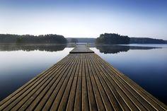 Wooden Pier at Morning - Tapetit / tapetti - Photowall