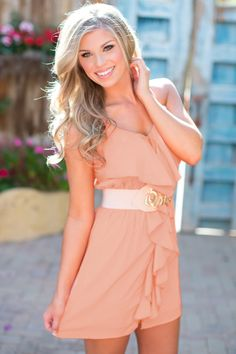 A Breath of Spring Dress - Blush from Closet Candy Boutique
