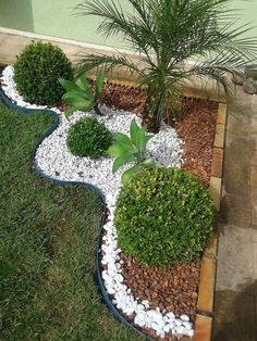 Front yard landscaping design Backyard landscaping designs Gravel landscaping Front garden landscape Small balcony garden Rock garden landscaping - You re wondering how do incorporate rocks in - Small Balcony Garden, Indoor Garden, Diy Garden, Corner Garden, Sloped Garden, Garden Tools, Garden Yard Ideas, Garden Hose, Herb Garden
