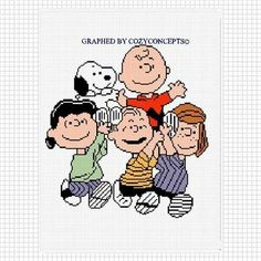 COZYCONCEPTS  PEANUTS GANG CHARLIE BROWN SNOOPY CROCHET PATTERN GRAPH AFGHAN. | CozyConcepts - Patterns on ArtFire