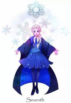Frozen meets Harry Potter: Elsa; Year 7º at Hogwarts