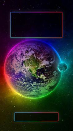 ↑↑TAP AND GET THE FREE APP! Lockscreens Art Creative Space Earth Stars Multicolor Black HD iPhone 6 Plus Lock Screen