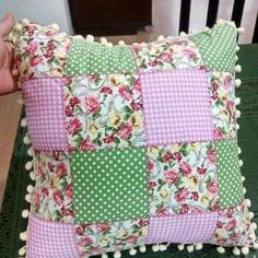 Patchwork Cojines Ideas 18 Ideas For 2019 - Stofftiere Crochet Cushions, Sewing Pillows, Diy Pillows, Decorative Pillows, Throw Pillows, Pillow Crafts, Fabric Crafts, Sewing Crafts, Sewing Projects