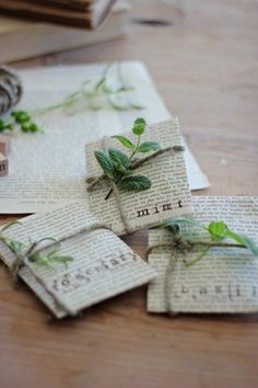 Give herbal seeds to your friends... nothing like fresh herbs to brighten a dish when cooking ;)