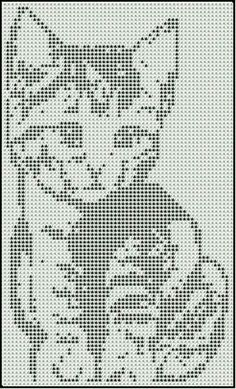 Cat Cross Stitches, Funny Cross Stitch Patterns, Cross Stitch Designs, Cross Stitching, Filet Crochet, Crochet Chart, Beaded Cross Stitch, Cross Stitch Embroidery, Owl Crochet Patterns