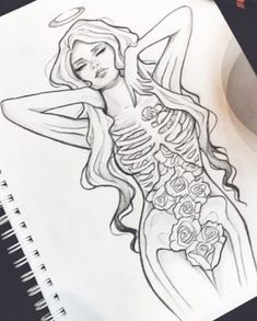 New Art Tattoo Ideas Draw Artists Ideas Dark Art Drawings, Art Drawings Sketches, Cool Drawings, Tattoo Drawings, Tattoo Art, Body Art Tattoos, Art Inspo, Painting & Drawing, Art Reference