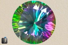 Mystic Topaz - Mystic Topaz has a coating of white topaz along with other minerals like titanium topaz. The tints of the gemstone can be seen in the various colors like bottle green, blue as well as purple. Mystic Topaz also identified in public as Caribbean topaz and Alaska topaz.