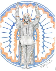 Chief Illiniwek!  How I miss him.  Original drawing by Wendy Zumpano  www.pencilportraitcards.com