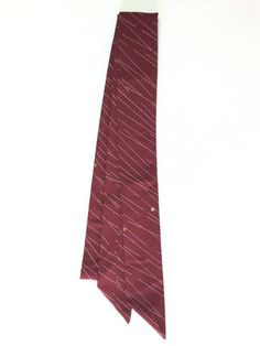 【Ribbon Scarf Burgandy with White Lines | #MegumiProject】A beautiful scarf made from an used kimono, it would be cute to style as a tie or bow!  #Recycled #RestoringBeauty #Tohoku #GivingHope #めぐみプロジェクト #東北