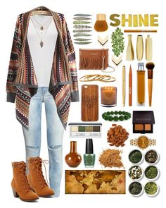 """Fall"" by gardengirl6600 ❤ liked on Polyvore featuring H&M, James Perse, Rebecca Minkoff, Laura Mercier, Stila, Illuminum, Tozai, Clinique, OPI and MICHAEL Michael Kors"