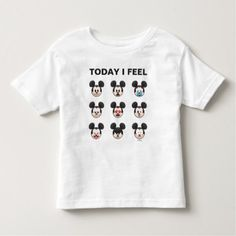 Mickey Mouse Emojis | Today I Feel Toddler T-shirt - trendy gifts cool gift ideas customize