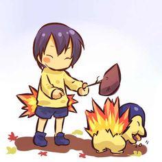 human version gijinka pokemon, cyndaquil