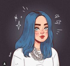 The one who brought you 'no time to die' yours truly, Billie Eilish ! Cartoon Girl Drawing, Girl Cartoon, Cartoon Drawings, Cartoon Art Styles, Cute Art Styles, Cool Art Drawings, Art Drawings Sketches, Arte Sketchbook, Cute Cartoon Wallpapers