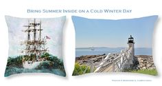Love #nauticaldecor ? Check out these #pillows  #interiordesign #homedecor #sea #ships #lighthouses Save $5 thru 2/15/15 use code RSYBMN  Like it? Repin to save for later that way you have the discount code too.