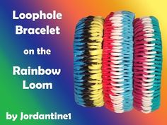 Rainbow Loom - LOOPHOLE Bracelet. Designed and loomed by jordantine1. Click photo for YouTube tutorial. 07/21/14.
