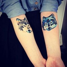 Wolf tattoos, arms