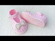 Crochet Baby Shoes, Crochet Tablecloth, Free Pattern, Booty, Knitting, Stuff To Buy, Clothes, Fashion, Ballerina Shoes