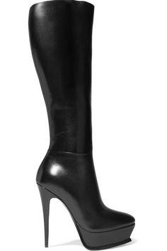 Saint Laurent Billy Kangaroo Leather Platform Boot In Brown Platform Boots, High Heel Boots, Knee Boots, Heeled Boots, Bootie Boots, High Heels, Fab Shoes, Cute Shoes, Designer Shoes