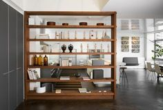 gorgeous bookshelves, room divider