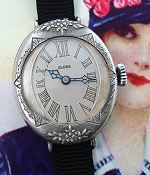 "Absolutely STUNNING ladies sterling silver Art Nouveau ""wristlet"" watch in remarkable condition, circa the teens."
