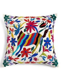 Otomi Embroidered Cushion | M&S