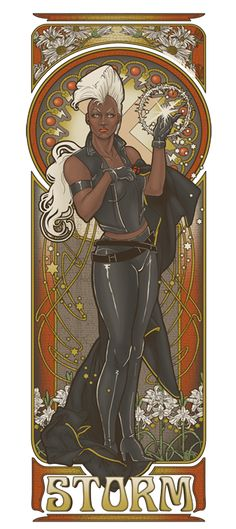 80s Storm Nouveau by ~hezaa on Deviantart  (Storm and her classy Mohawk!)