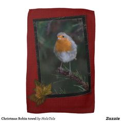 Christmas Robin towel