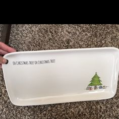 Rae Dunn oh Christmas Tree platter New! I have 2 Other