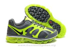 official photos 99790 746be Nike Air Max 2012 Mens 487982-303 Grey Green Black Free Running Nike Air Max