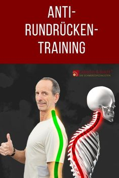 Anti-round back - the best exercises against the hump - back pain -. - Anti-round back – the best exercises against the hump – back pain – # Anti hunchback - Fitness Workouts, Yoga Fitness, Easy Workouts, At Home Workouts, Fitness Tips, Health Fitness, Training Workouts, Muscle Fitness, Physical Fitness