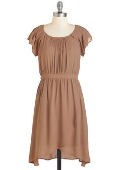 Coffee Date Darling Dress. Theres a latte to love about this darling dress! #brown #modcloth