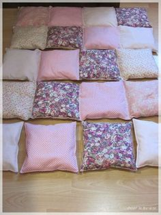 18 Trendy Ideas For Patchwork Quilt Patterns Spanish Puff Quilt, Rag Quilt, Bed Cover Design, Bubble Quilt, Patchwork Quilt Patterns, Crazy Patchwork, Patch Quilt, Diy Pillows, Diy Home Crafts