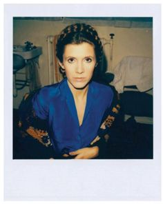 Young Carrie Fisher polaroid