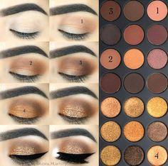Makeup Idea Braun - - Kosmetik - Make-up Makeup Goals, Makeup Inspo, Makeup Inspiration, Makeup Tips, Beauty Makeup, Makeup Ideas, Eyeshadow Looks, Eyeshadow Makeup, Makeup Contouring