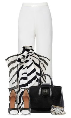 """""""White Pants"""" by cassandra-cafone-wright ❤ liked on Polyvore featuring Lanvin, Louis Vuitton, Givenchy and XOXO"""