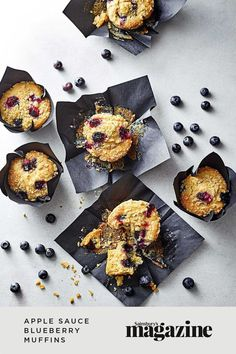 These blueberry crumble muffins are gluten-free and sweetened with apple sauce for a healthier treat to pair with your morning coffee. This better for you bake is lovely for picnics, packed lunches and afternoon tea, too! Get the Sainsbury's magazine recipe Muffin Recipes, Cupcake Recipes, Baking Recipes, Blueberry Crumble Muffins, Blue Berry Muffins, How To Make Breakfast, Food Trends, Strawberries And Cream, Afternoon Tea