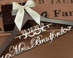 Personalized Wedding Dress Hanger Deluxe Custom by haomaihanger #wedding #mybigday