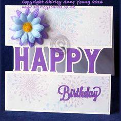 Shirley's Cards: Happy Birthday Split Card freebie and holiday info...
