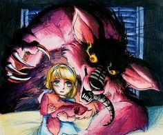 Nightmare Foxy FNaF 4 by Mizuki-T-A.deviantart.com on @DeviantArt