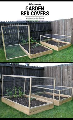 This Instructable will take you through the process of making hinged covers for . - This Instructable will take you through the process of making hinged covers for your raised garden - Design Jardin, Vegetable Garden Design, Vegetable Gardening, Vegetable Planter Boxes, Vegetable Bed, Backyard Vegetable Gardens, Kitchen Gardening, Small Yard Vegetable Garden Ideas, Vegetable Ideas