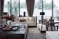 三亚海棠湾国玺.二十五院 Sofa Furniture, Outdoor Furniture Sets, Outdoor Decor, Chinese Style, Curtains, Contemporary, Living Room, House, Inspiration