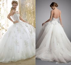Wedding Dresse Glamorous Ball Gowns Wedding Dresses Beaded Lace Applique Stunning Sweep Train Ruched Tulle With Sweetheart Neckline Beach Bridal Gowns Ah07 Wedding Dresses 2014 Ball Gown From Engerlaa, $161.85| Dhgate.Com