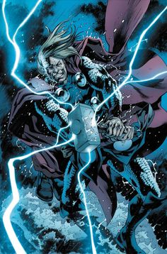 The Unworthy Thor #1 (2016) Variant Cover by Bryan Hitch
