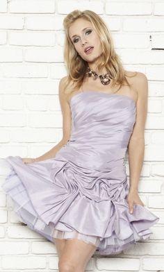 Lilac Corset A-Line/Princess Strapless Short/Mini Cocktail Dress CD32F9 at Dressmini.com