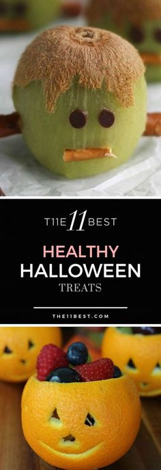 All Halloween treats don't have to be candy and sweets, there are some great ideas out there for some healthy Halloween snacks too! Halloween Treats For Kids, Holiday Treats, Holiday Recipes, Holiday Fun, Diy Halloween, Halloween Cakes, Halloween Baking, Halloween Ghosts, Halloween Themes