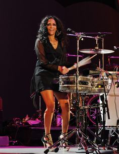 Sheila E has performed with Prince during their heydays and on some recent shows. Description from onpointpress.net. I searched for this on bing.com/images