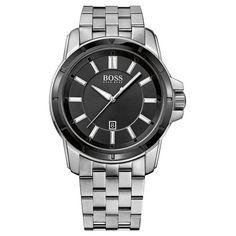 2ed5bb1871d5 Hugo+Boss+Black+Dial+Stainless+Steel+Bracelet+1512924 Hugo
