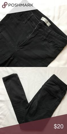 """Abercrombie High-Waist Black Jeans Waist –24"""" Length – 27""""  Worn a handful of times, still in great used condition.    Bundle & save!  Browse my closet for more Abercrombie!  Make an offer! Abercrombie & Fitch Jeans Skinny"""