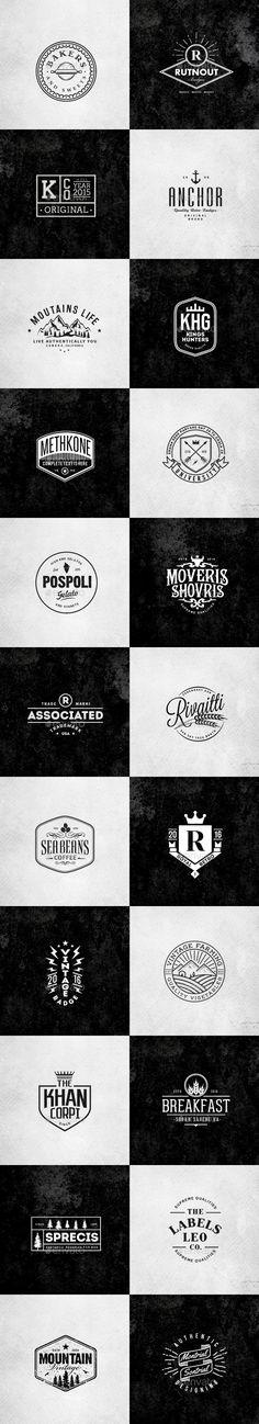 Retro Vintage Minimal Logos Template Vector EPS, AI Illustrator. Download here: https://graphicriver.net/item/retro-vintage-minimal-logos-vol02/17118315?ref=ksioks