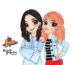 Jazmín y Delfina #SoyLuna  . No se olviden de seguirme en mis tableros nada de perfectas y soy luna los quiero